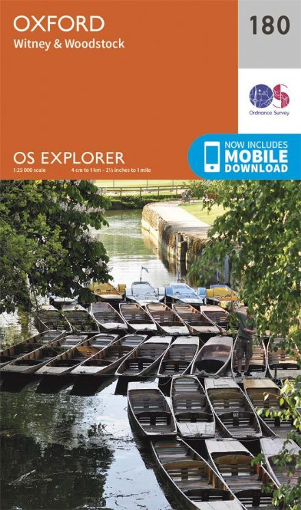OS Explorer 180 - Oxford, Witney & Woodstock